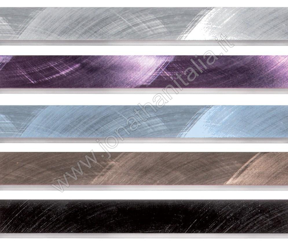 Profili in acciaio e alluminio - Listelli in alluminio spazzolato
