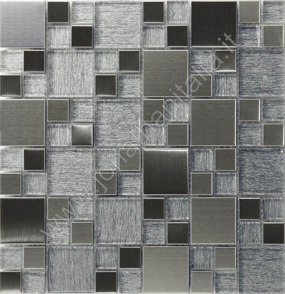Mosaico texture legno grigio - Mosaico grigio bagno ...