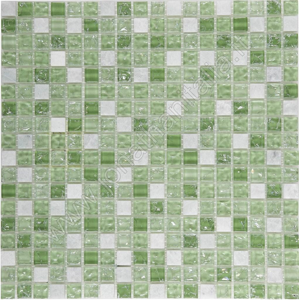 Mosaici mosaici serie lux lux verde - Bagno mosaico verde ...