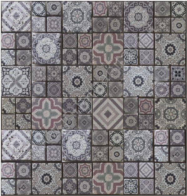 Bagno Design Ecologico In Pietra : Mosaici serie azulejos tortora