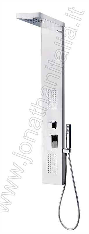 Shower panel SS-225 - Mirror stainless steel multifunction shower panel