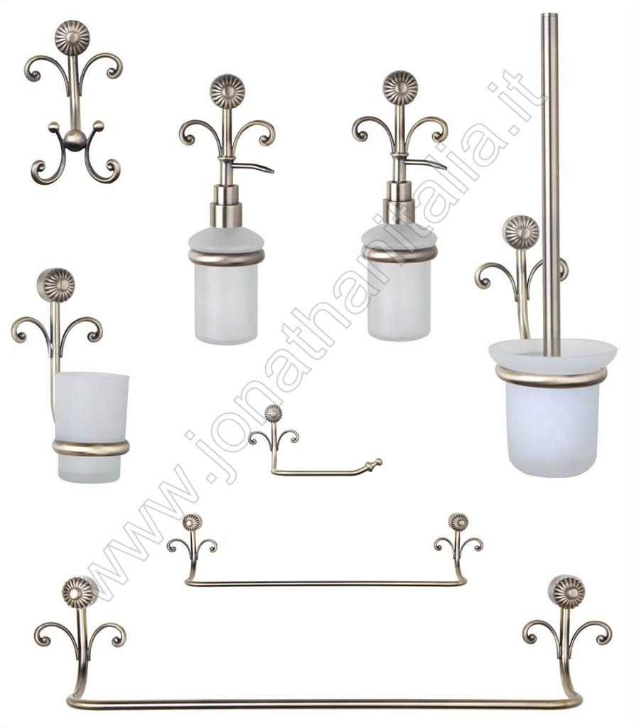 Accessori Bagno Bronzo : Accessori da bagno serie antica