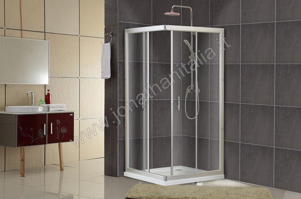 Cabine Doccia Cristallo : Box doccia box doccia in cristallo temperato serie basic bo