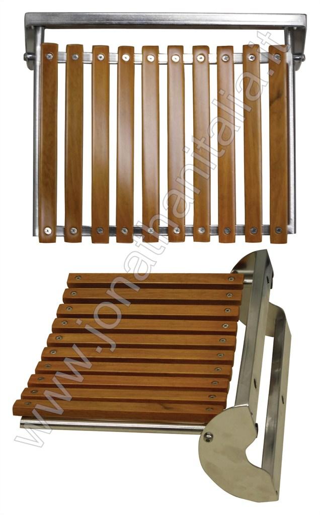 Box Doccia - Sedili box doccia - Sedili in legno e acciaio