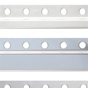 Steel and aluminum trims Stainless steel borders X series