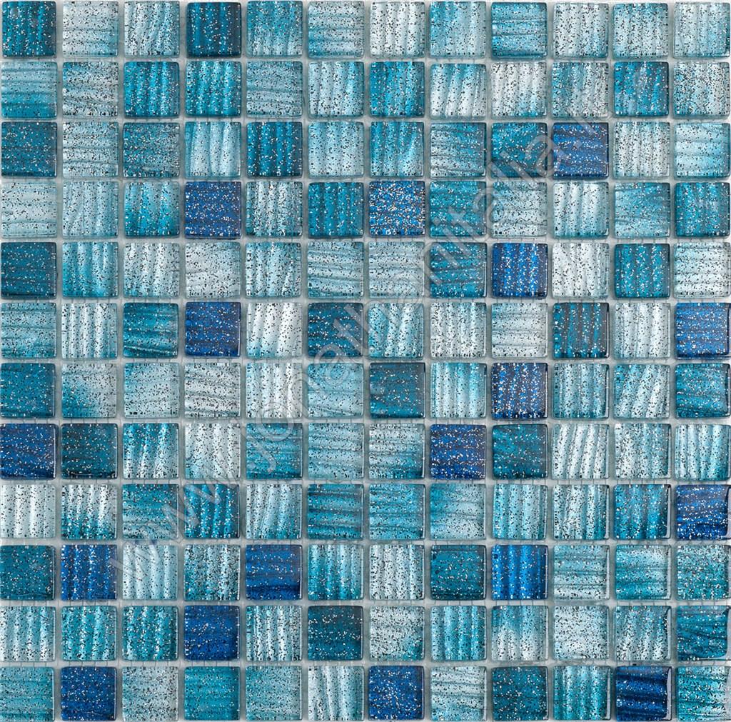 Mosaici mosaici serie stripe mosaico stripe blu - Mosaico blu bagno ...